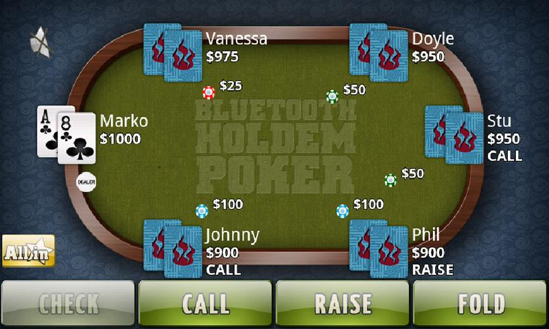 покер по блютузу