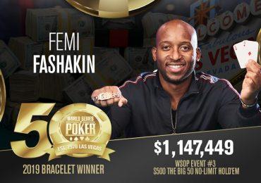 Феми Фашакин – победитель крупнейшего турнира в истории BIG 50